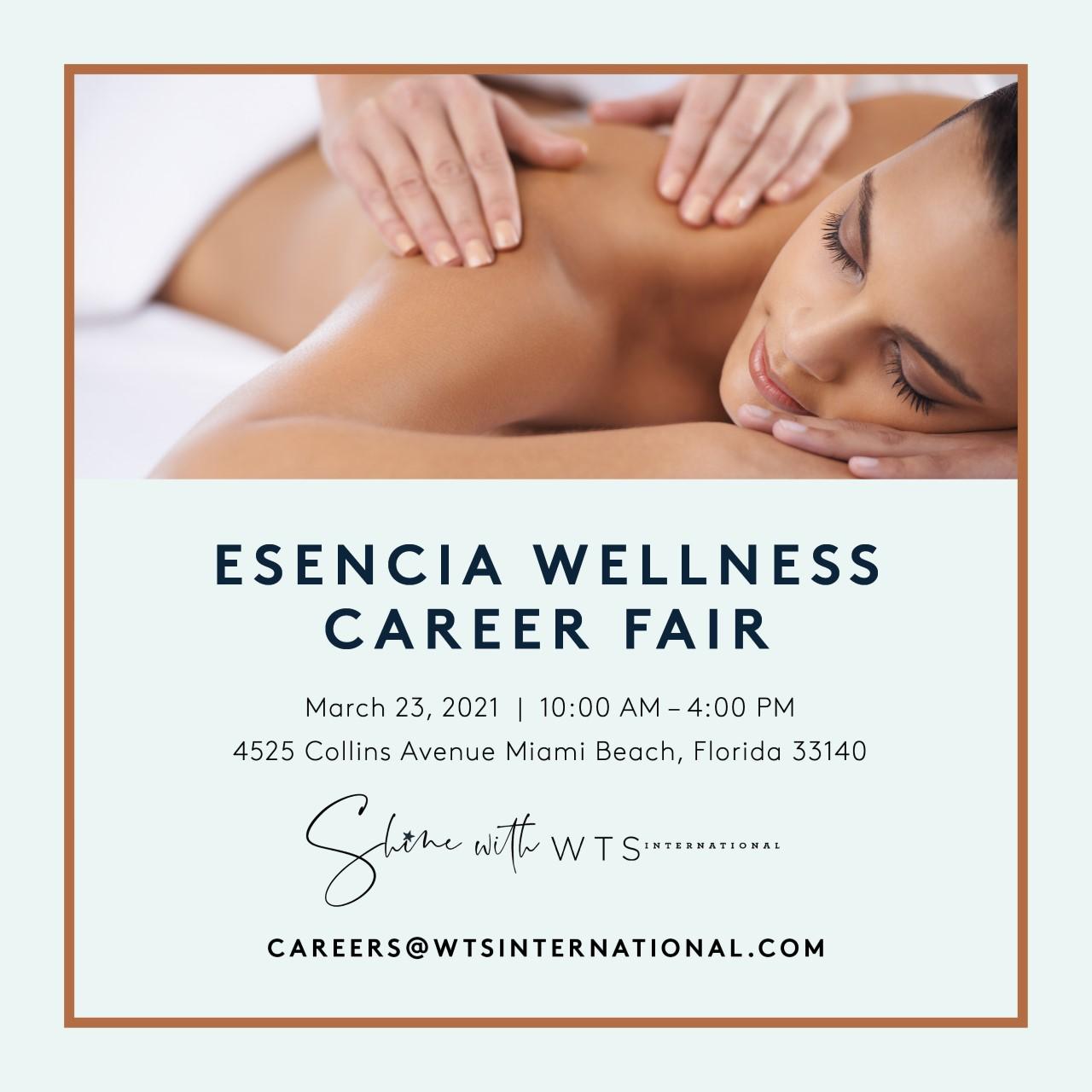 Essencia Wellness Career Fair Ad